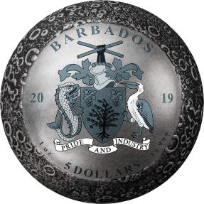 現貨 - 2019巴貝多-登陸月球-50週年紀念-1盎司銀幣