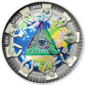 預購(排單中) - 2021帛琉-陰謀系列-新世界秩序-2盎司銀幣