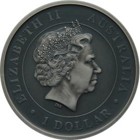 現貨 - 2014澳洲伯斯-無尾熊-1盎司銀幣-仿古版