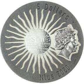 預購(即將到貨) - 2020紐埃-太陽神系列-托納蒂烏-2盎司銀幣