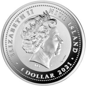 現貨 - 2021紐埃-圖坦卡門的隼-琥珀-17.5克銀幣
