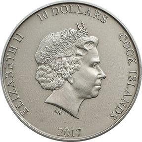 現貨 - 2017庫克群島-雷神之鎚-2盎司銀幣