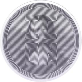 預購(確定有貨) - 2021托克勞-蒙娜麗莎-1盎司銀幣(半精鑄版)(非盒裝)