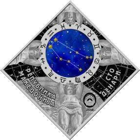 現貨 - 2018馬其頓-星座系列-雙子座-23.3克銀幣