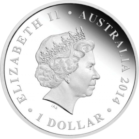 現貨 - 2014澳洲伯斯-澳洲-大堡礁-1盎司銀幣