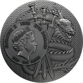 現貨 - 2019紐埃-中國古代的勇士系列-呂布-3盎司銀幣
