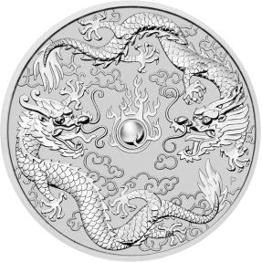 現貨 - 2019澳洲伯斯-雙龍-1盎司銀幣(普鑄)