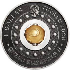 現貨 - 2020吐瓦魯-旋轉-鼠年-1盎司銀幣
