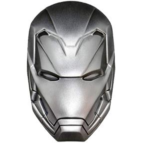 現貨 - 2019斐濟-Marvel系列-鋼鐵人-面具造型-2盎司銀幣