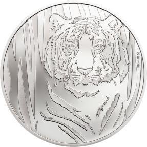 現貨 - 2019蒙古-陰影-虎-1/2盎司銀幣