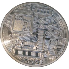 現貨 - 比特幣-彩色硬幣(普鑄)-鍍銀色(附塑殼)