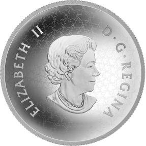 現貨 - 2017加拿大-楓葉-凸面造型-5盎司銀幣