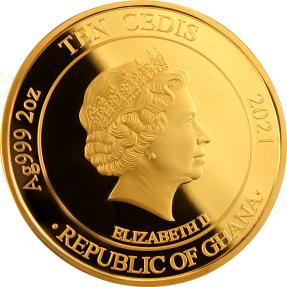 預購(確定有貨) - 2021迦納-最偉大的瓷器-中國龍花瓶-2盎司銀幣