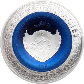 現貨 - 2019帛琉-地平說-2盎司銀幣