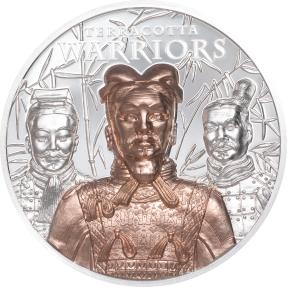 現貨 - 2021庫克群島-兵馬俑-鍍金-3盎司銀幣