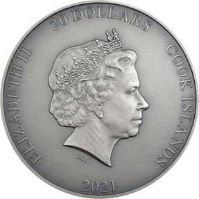 預購(確定有貨) - 2021庫克群島-亞洲神話系列-趙公明(鍍金)-3盎司銀幣