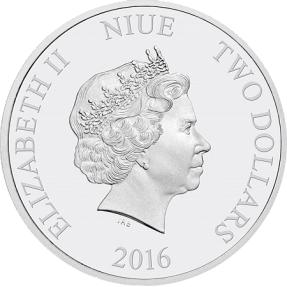 現貨 - 2016紐埃-星際大戰七部曲-原力覺醒-波·戴姆倫-1盎司銀幣