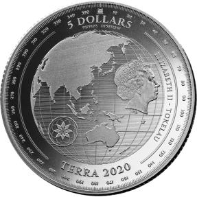 現貨 - 2020托克勞-地球-1盎司銀幣(普鑄)