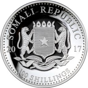 現貨 - 2017索馬利亞-非洲大象-1盎司高浮雕精鑄銀幣