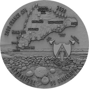 預購(即將到貨) - 2020喀麥隆-復活節島-拉帕努伊人-2盎司銀幣