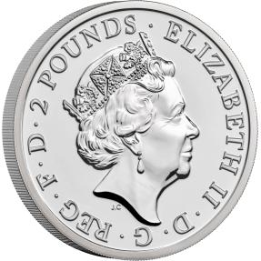 現貨 - 2021英國-不列顛女神-1盎司銀幣(普鑄)(盒裝)