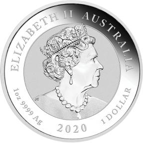 現貨 - 2020澳洲伯斯-守護獅子-貔貅-1盎司銀幣(普鑄)