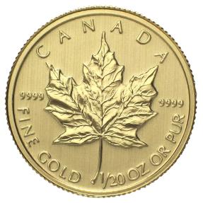現貨 - 加拿大-楓葉-1/20盎司金幣-原廠封裝