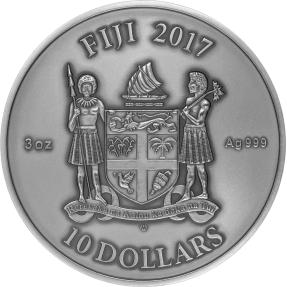 現貨 - 2017斐濟-曼陀羅藝術系列-中國龍-3盎司銀幣