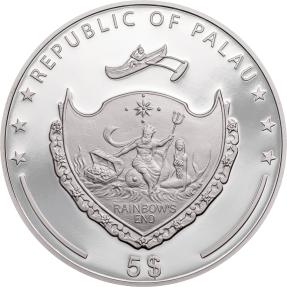 現貨 - 2021帛琉-法蒂瑪之手-1盎司銀幣