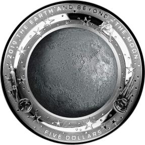 現貨 - 2019澳洲皇家-地球與超越系列-月亮-凸面造型-1盎司銀幣