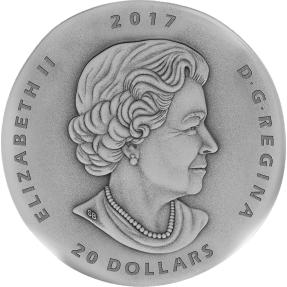 現貨 - 2017加拿大-化石系列-似鳥龍-1盎司銀幣