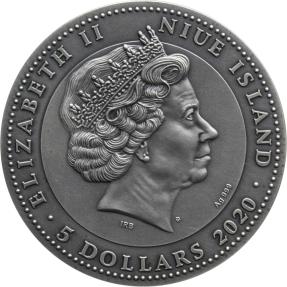 現貨 - 2019紐埃-勇士系列-馬雅人-2盎司銀幣