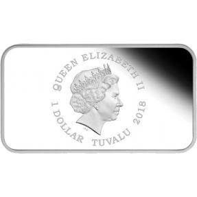 現貨 - 2018吐瓦魯-生肖-狗年-方型-1盎司銀幣-4枚組