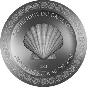 預購(即將到貨) - 2021喀麥隆-維納斯的誕生-2盎司銀幣
