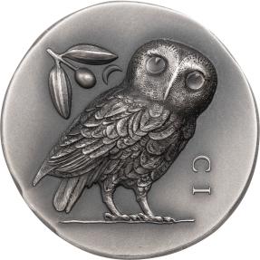 現貨 - 2021庫克群島-雅典娜的貓頭鷹-1盎司銀幣