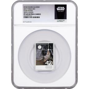 現貨 - 2017紐埃-星際大戰-40週年紀念-1盎司銀幣-NGC PF69鑑定幣-UC版(星際大戰標籤)