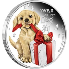 預購(限已確認者下單) - 2018吐瓦魯-生肖-寶貝狗-1/2盎司銀幣