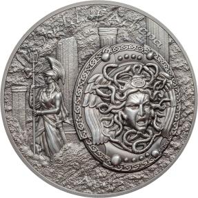 現貨 - 2018庫克群島-神盾神話系列-雅典娜的盾-2盎司銀幣