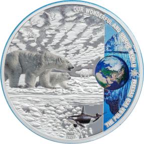 預購(即將到貨) - 2020帛琉-我們的地球-生態系統系列-北極-2盎司銀幣
