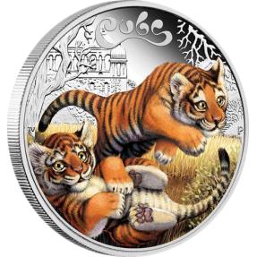 現貨 - 2016吐瓦魯-幼獸系列-老虎-1/2盎司銀幣-第一枚