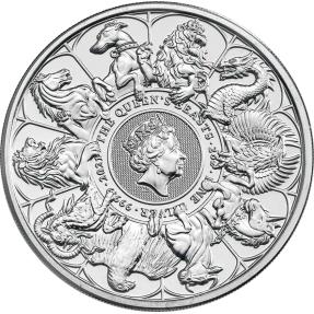 預購(確定有貨) - 2021英國-皇后野獸-十獸版-2盎司銀幣(普鑄)(含專用塑殼)