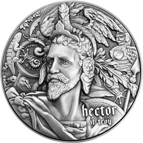 現貨 - 2020紐埃-新世界系列-赫克托爾-(2盎司銀+11.5盎司銅)銀幣