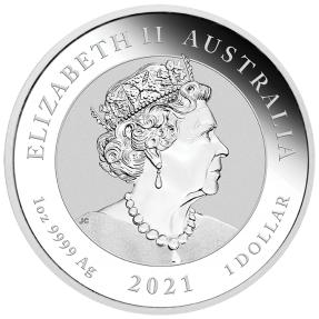 預購(確定有貨) - 2021澳洲伯斯-中國神話傳說系列-龍-1盎銀幣(普鑄)
