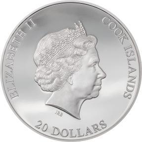 預購(確定有貨) - 2021庫克群島-銀爆-3盎司銀幣
