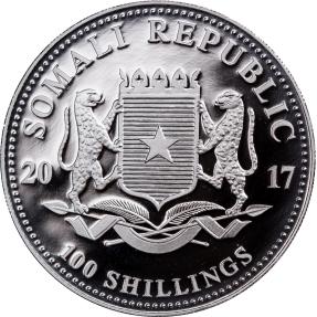 現貨 - 2017索馬尼亞-大象-1盎司銀幣(丹佛美國錢幣協會標記版)