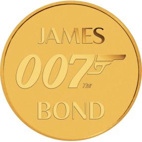 現貨 - 2020吐瓦魯-007-詹姆士·龐德-0.5克金幣