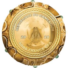 預購(確定有貨) - 2020喀麥隆-四葉草-蛋型-7盎司銀幣