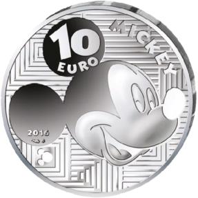 現貨 - 2016法國-迪士尼-跨越時空-米奇-22.2克銀幣