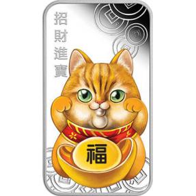 現貨 - 2019吐瓦魯-招財貓-1盎司銀幣