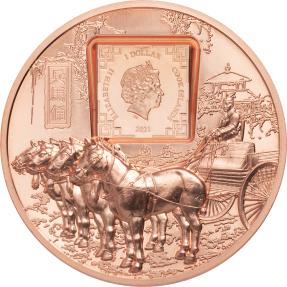 預購(確定有貨) - 2021庫克群島-兵馬俑-50克銅幣